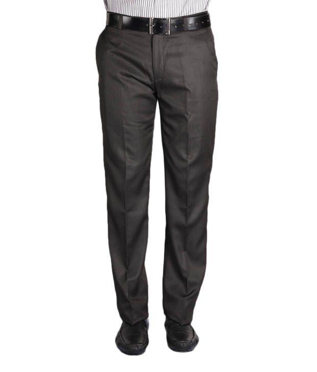 Jogur Black Striped Men's  Trouser