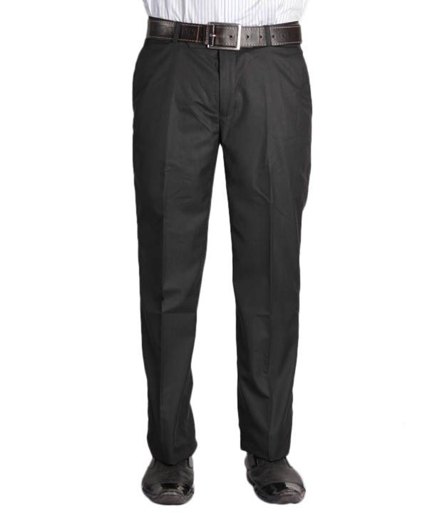 Jogur Black Striped Men's  Trouser