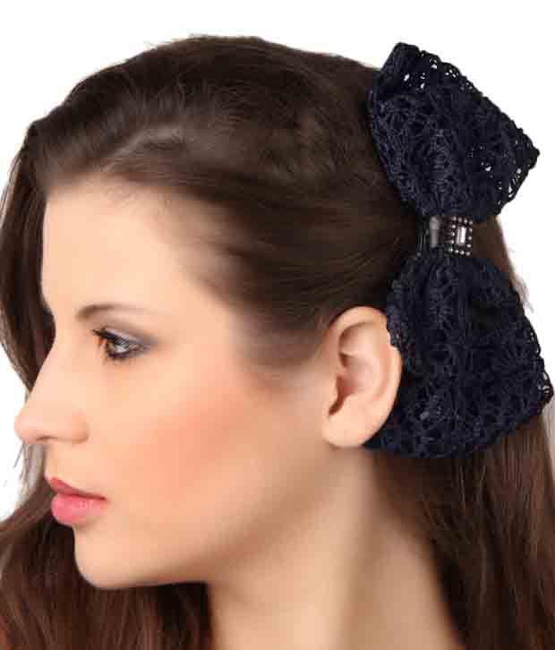 Embellish Big Bow Design Black Hair Band