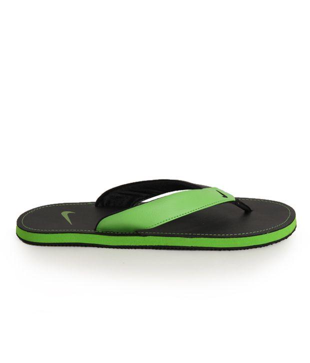 a3baca6172be Nike Chroma Thong II Black   Green Slippers Price in India- Buy Nike ...