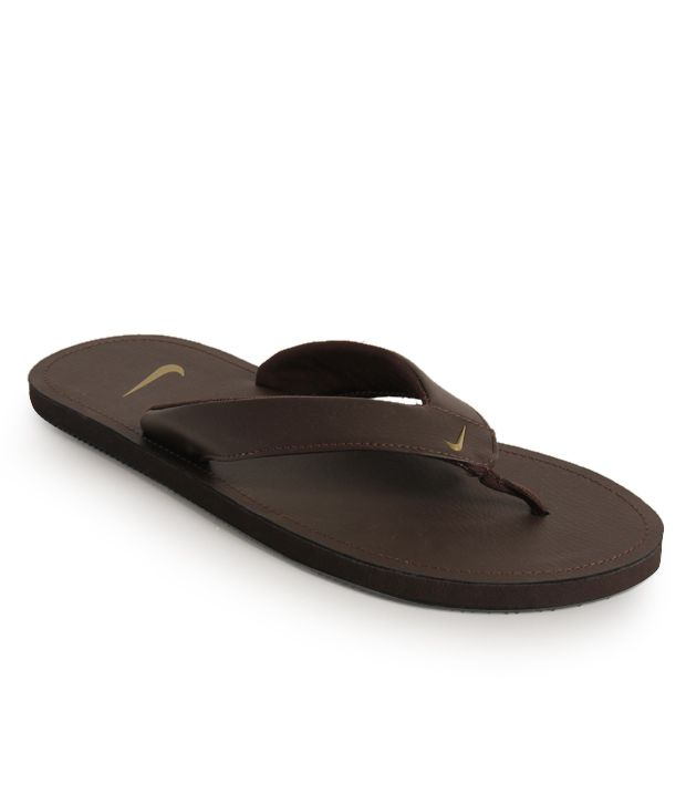 on sale a9622 bc22a Nike Chroma Thong II Chocolate Brown Slippers Price in India ...