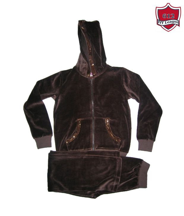 612 IVY League Brown Hooded Tracksuit