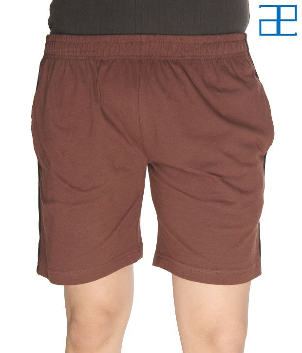 Adam n' eve Men's Coffee Brown Shorts