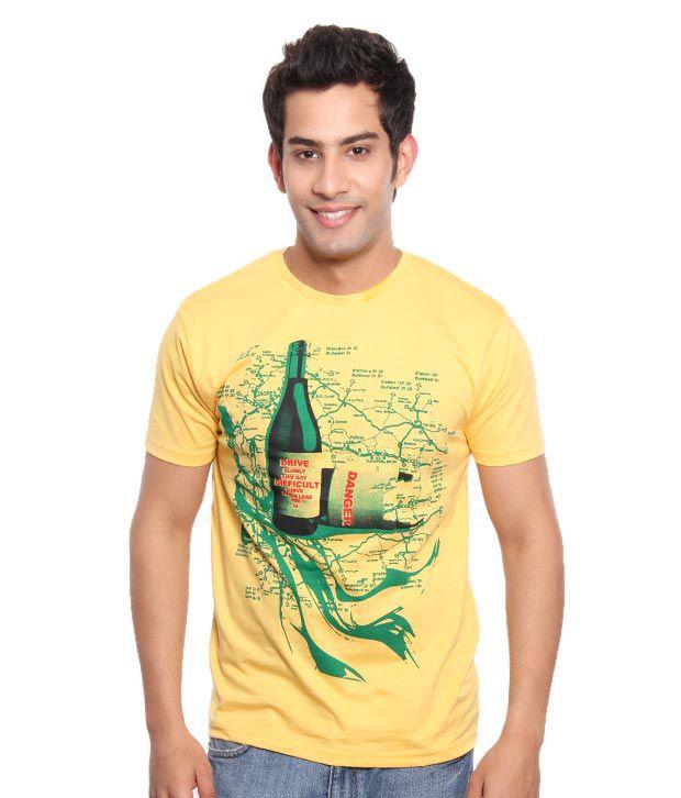 Free Spirit Cool Yellow Men's T-Shirt
