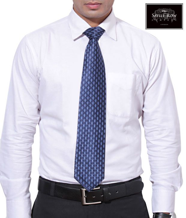 The Savile Row Light-n-Dark Blue Necktie