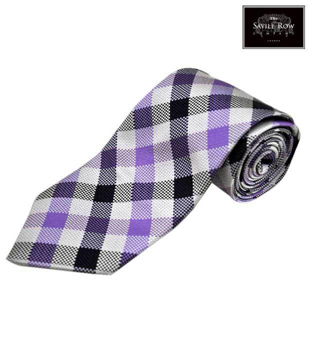 The Savile Row Winning Square Purple Necktie