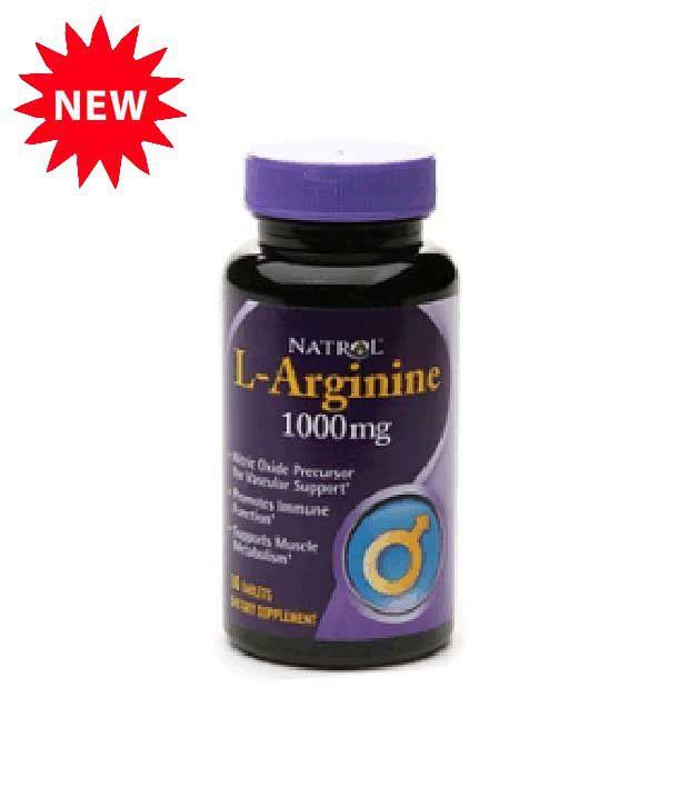 natrol l arginine 1000mg 50 tablets