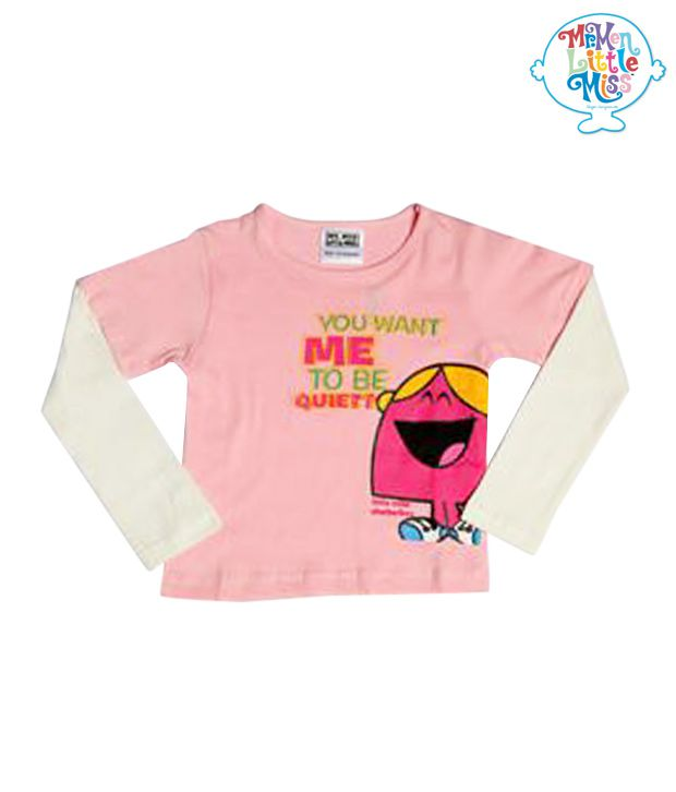 Mr men little miss baby pink off white t shirt for kids for Baby pink shirt for man