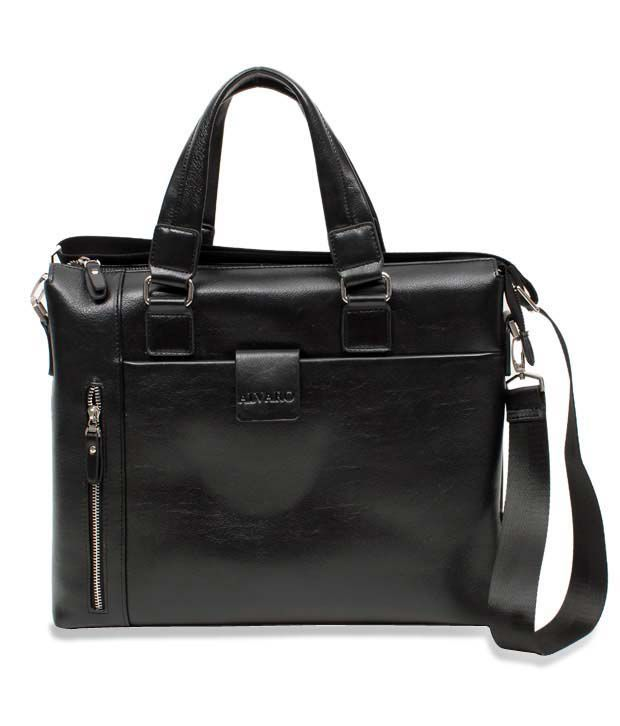 Alvaro Sophisticated Black Laptop Bag