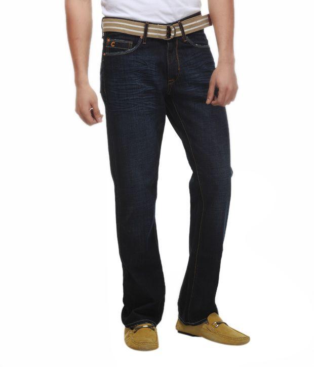 FREECULTR Vibrant Dark Blue Jeans