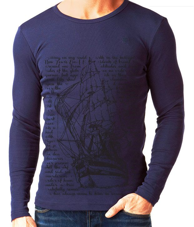 Rigo cool blue full sleeves men 39 s t shirt buy rigo cool for Full sleeves t shirts for men