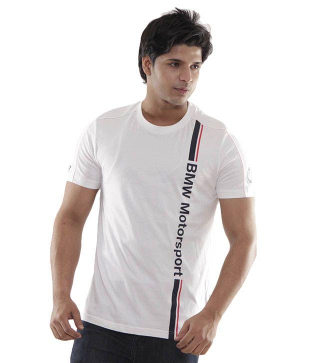 puma white bmw logo men 39 s t shirt buy puma white bmw. Black Bedroom Furniture Sets. Home Design Ideas