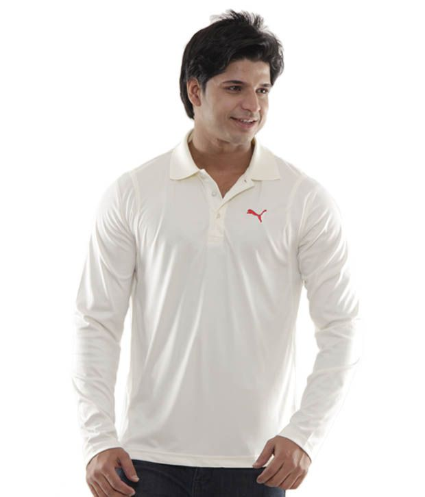 fd76e1a2b55 Puma Classy Cream Full Sleeves Polo T-Shirt - Buy Puma Classy Cream Full  Sleeves Polo T-Shirt Online at Low Price in India - Snapdeal