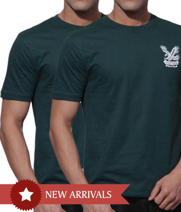 Tommy Hilfiger Bottle Green T-Shirt Pack of 2