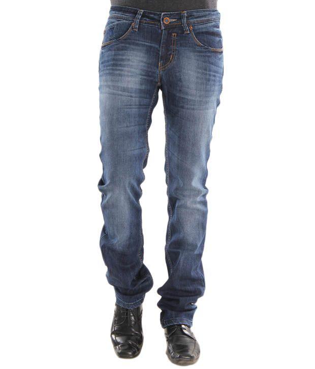Lemax Dark Blue Stylish Men's Jeans