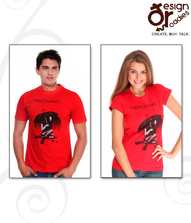 Design Roadies I Want You Back Red T-Shirt Pack of 2