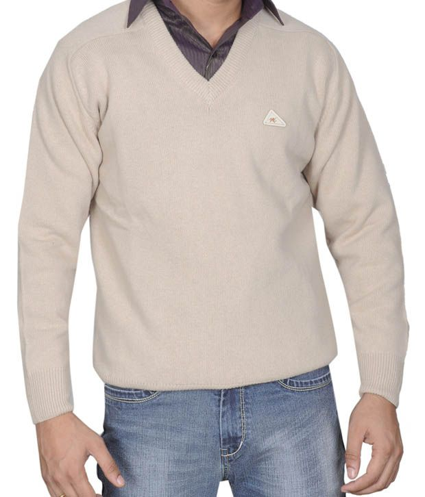 Monte Carlo Cream V-Neck Sweater