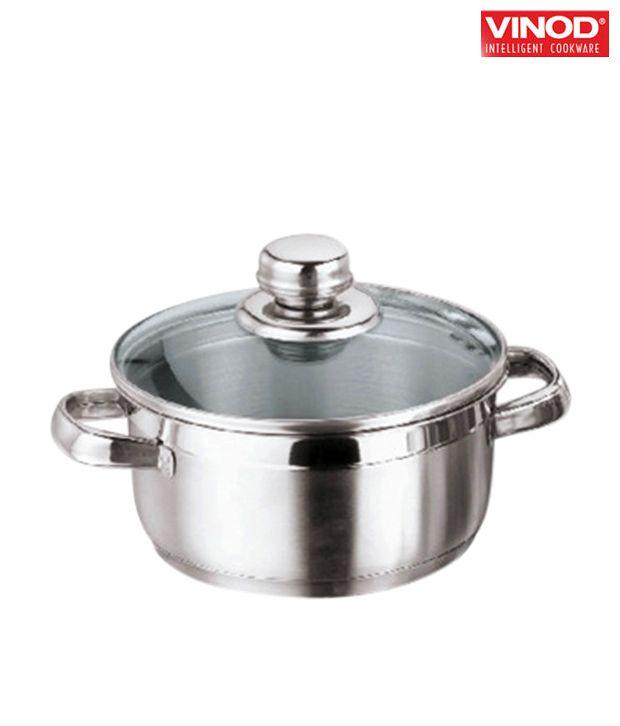 Vinod Breman No Coating Stainless Steel Pot 16 1 5ltr Buy