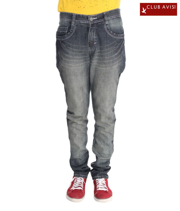 Club Avis USA Cool Grey Narrow Fit Jeans
