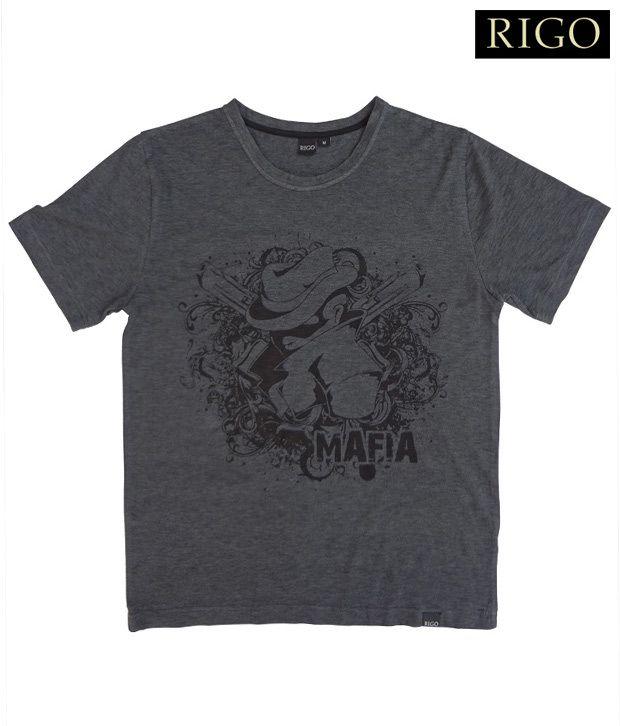 Rigo Charcoal Grey Mafia T-Shirt