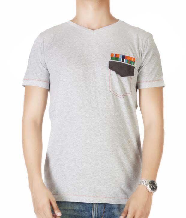 Dirty Laundry Cool Grey Melange T-Shirt