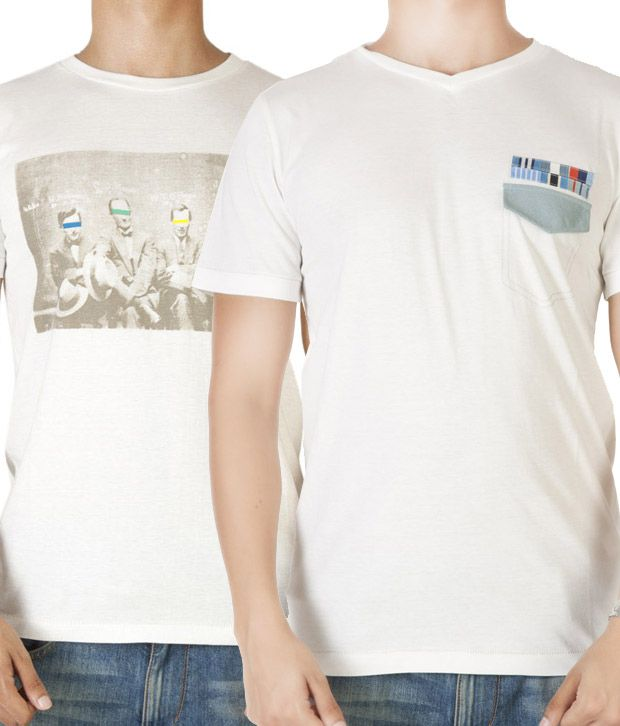 Dirty Laundry Smart Off-White Pack of 2 T-Shirts