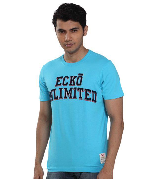 Ecko Vibrant Turquoise Blue T-Shirt