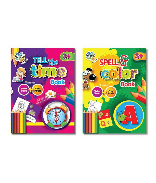 Gogo Kids Education Bunch Coloring Book Combo Pack (Pack of 2 sets)
