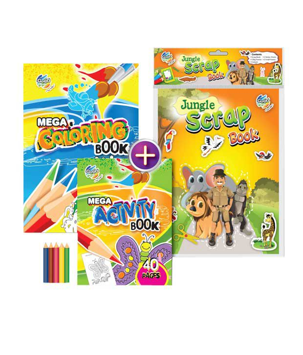 Gogo Kids Wild Tooth Drill Activity & Coloring Book Combo Pack (Pack of 2 sets)