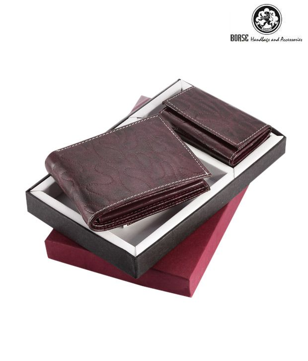Borse Ombre Brown Gents Wallet & Keyring Pouch Combo Set