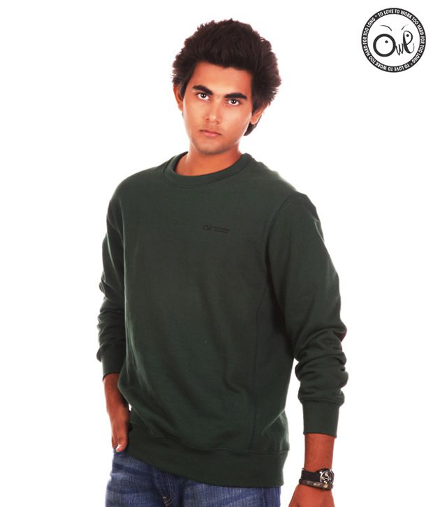 OWL Green Sweatshirts for men