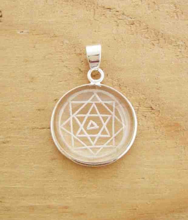 Designer Silver Shree Yantra Sterling Silver Pendant