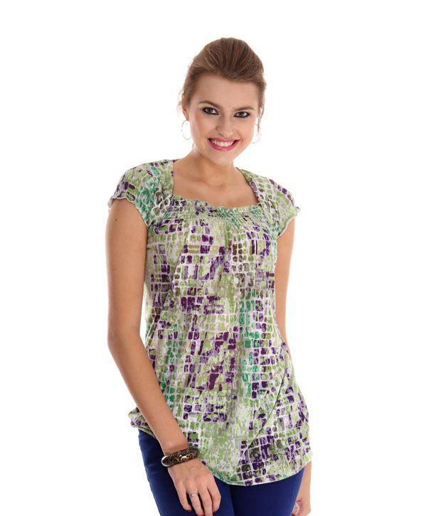 Sepia Green Poly Cotton Tunics
