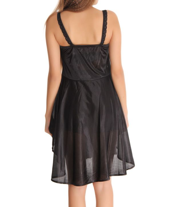 Buy Affair Black Lycra Pleated Nighty Online at Best Prices in India ... 790421a58
