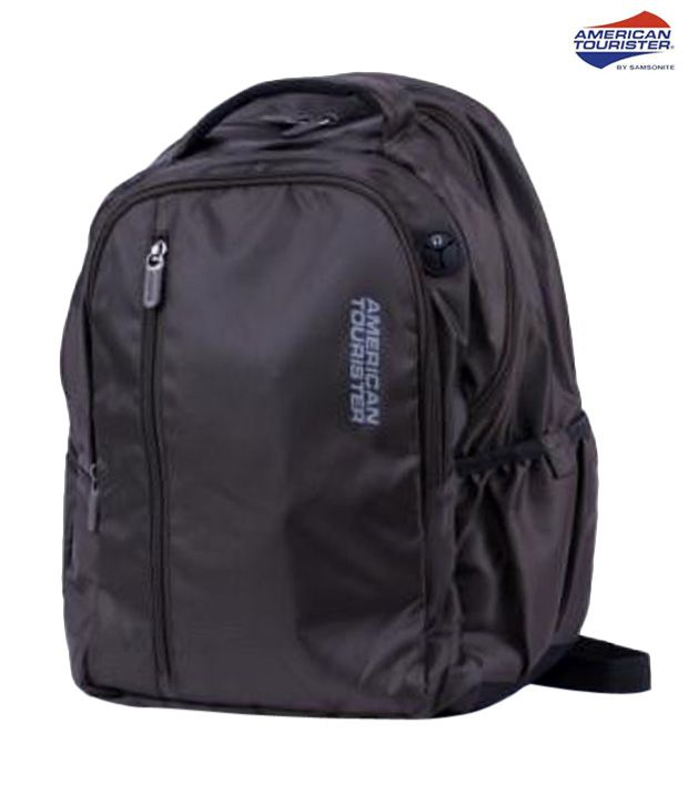 American Tourister Rugged Black Citi Pro 3 Laptop Backpack