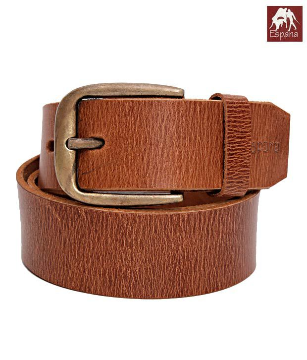 Espana Trendy Tan Cracked Finish Gents Belt