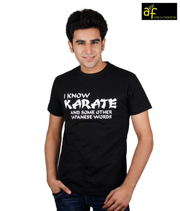 A for F Black Karate T-Shirt