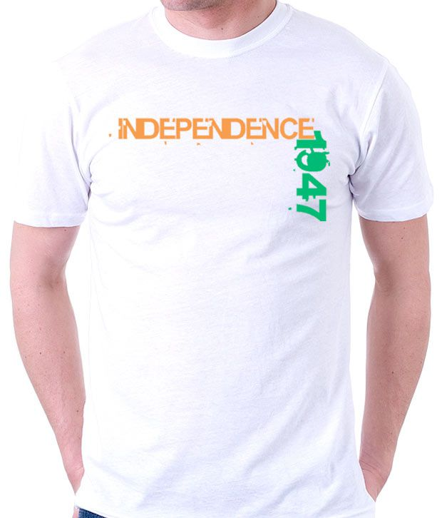 A for F White Independence T-Shirt