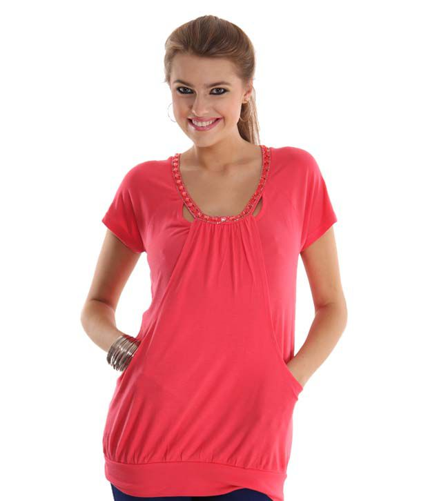 Latin Quarters Mesmerizing Coral Pink Top