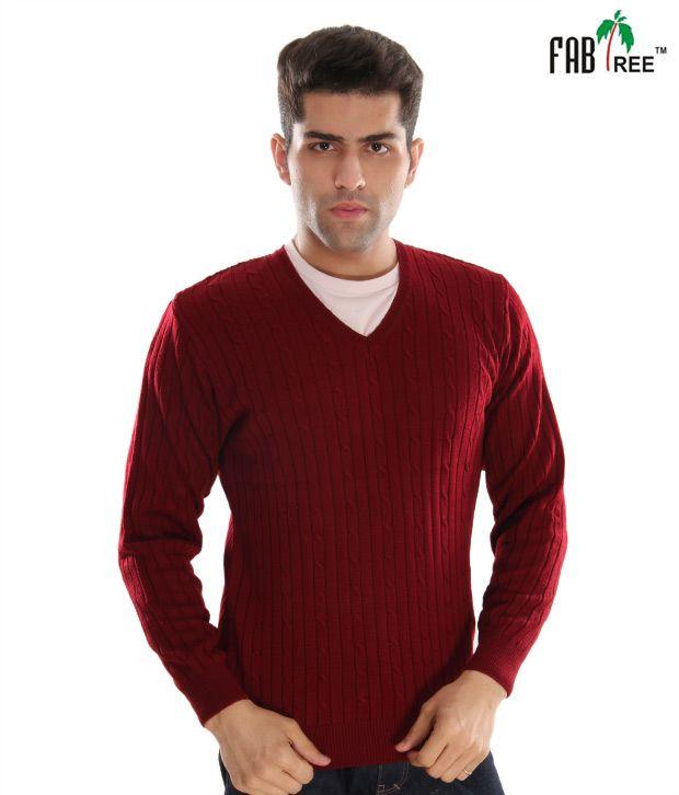 Fabtree Classy Maroon Men's Sweater
