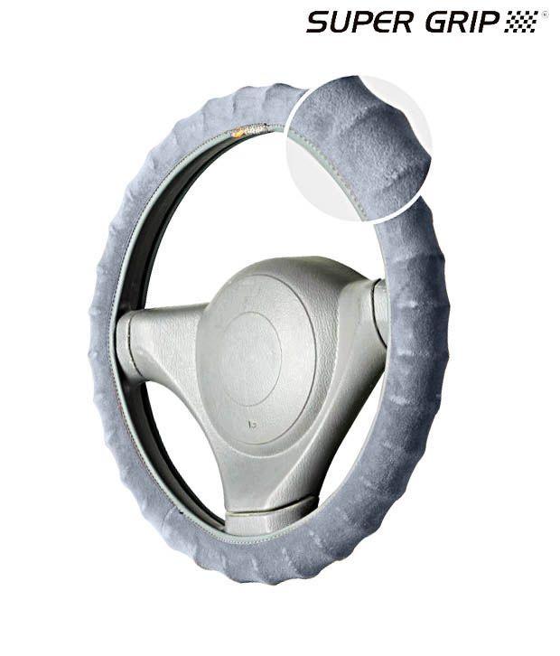 Super Grip - Velvo Grip - Ring Type Steering Cover - Grey - MAHINDRA