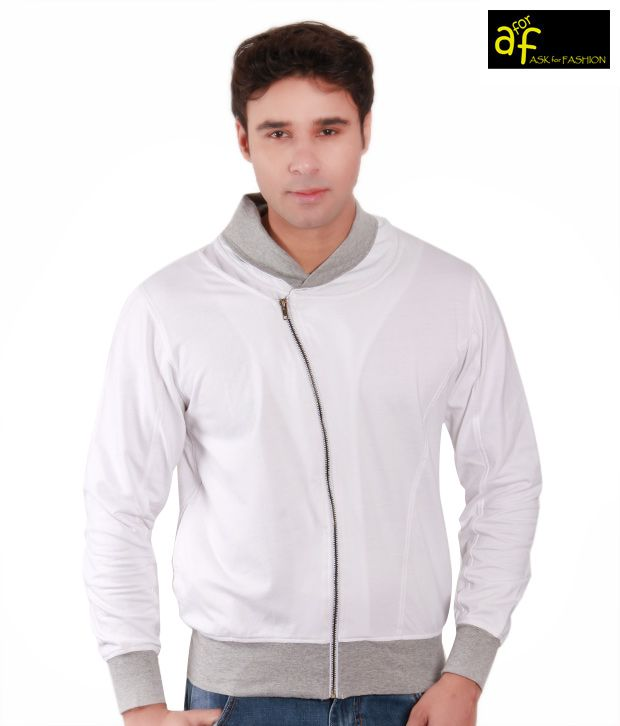 A for F Classy White & Grey Men's Jacket