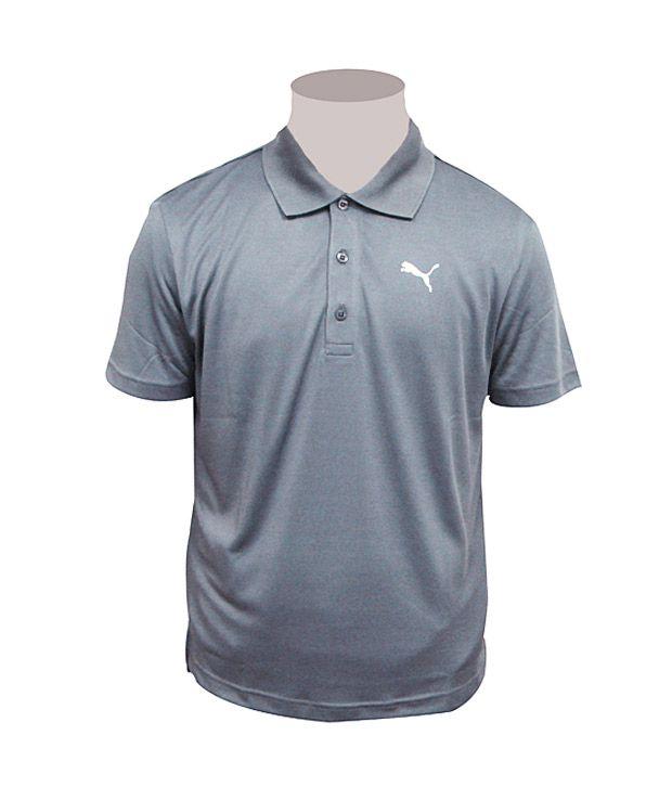 puma grey collar neck t shirt buy puma grey collar neck