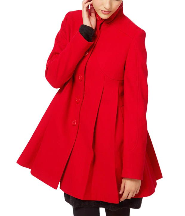 Lieben Mode Vivacious Red Overcoat