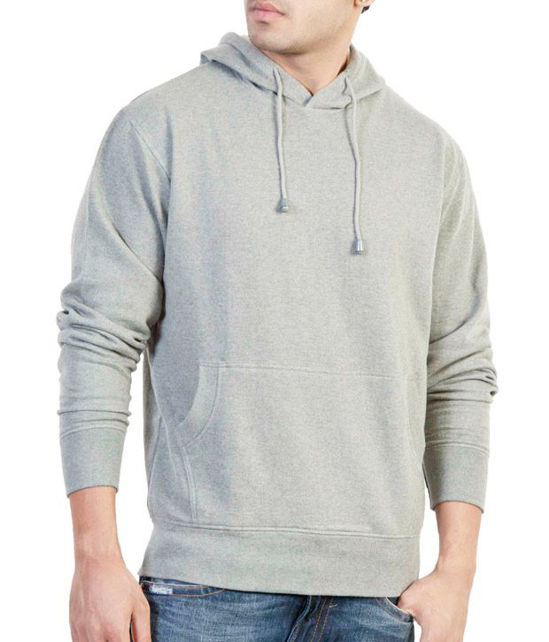 The Indian Garage Co. Anthra Melange Hooded Sweat Shirt