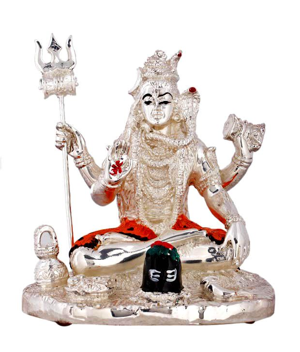 Shanti Sacred Shiv Ji Silver Coated Idol
