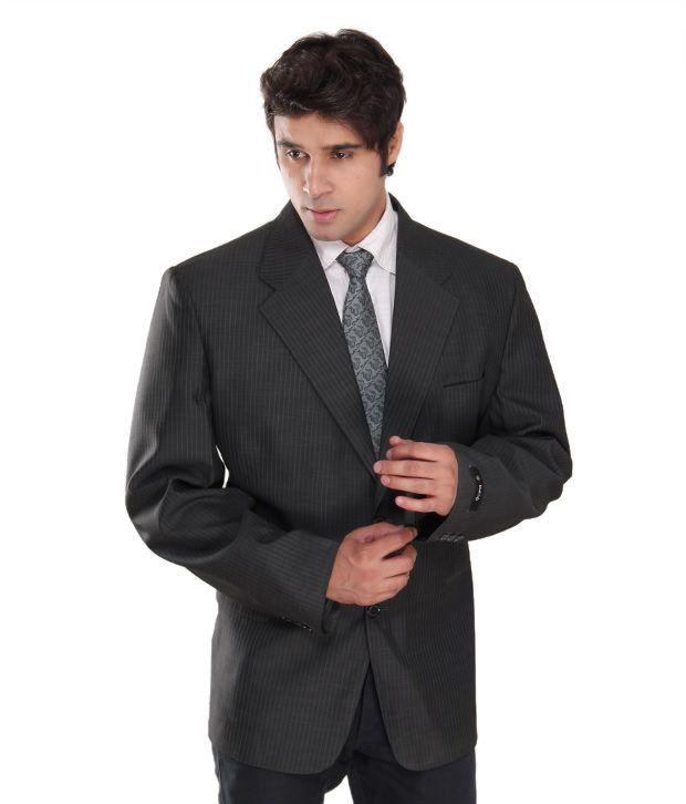 Westlife Stylish Dark Grey Men's Blazer
