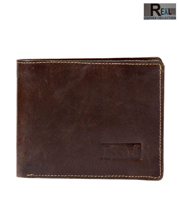 Real Captivating Brown Matt Finish Wallet