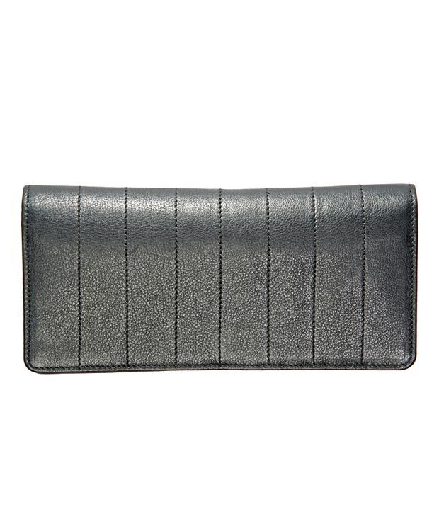 Elan Black Textured Ladies Wallet