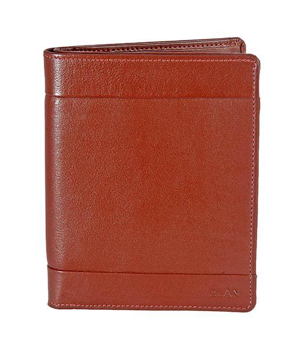 Elan Radiant Brown Passport Wallet
